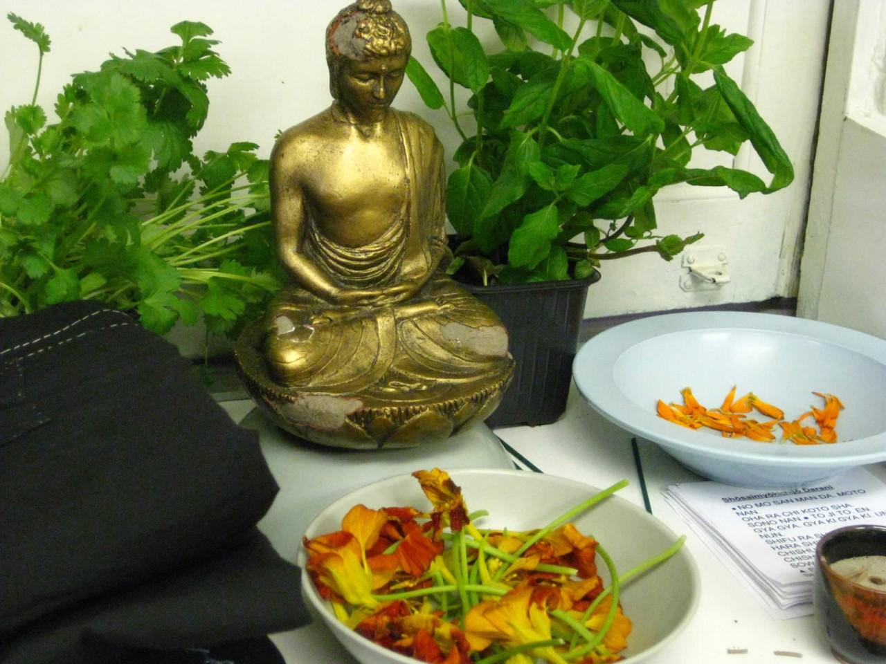 Buddha's kitchen herb garden