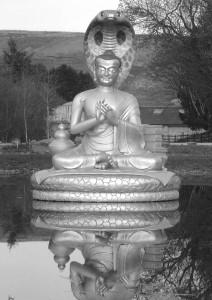 Statue of Nagarjuna (Nagaharajuna Daiosho) at Samye Ling Monastery